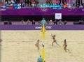 奥运视频-薛晨演背网攻杀斜线 女子沙排半决赛