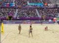 奥运视频-薛晨大力攻杀对角线 女子沙排半决赛