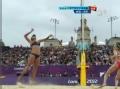 奥运视频-薛晨中路远吊杀底线 女子沙排半决赛