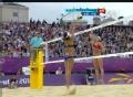 奥运视频-美国组合轻巧推远角 女子沙排半决赛