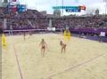 奥运视频-薛晨网前拐腕扣杀球 女子沙排半决赛