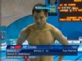 奥运视频-何冲向内翻腾完美起跳 跳水男个3米板