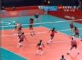 奥运视频-汤普森网前吊球 女排美国VS多米尼加