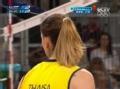 奥运视频-泰沙后排重扣直线 女排俄罗斯VS巴西
