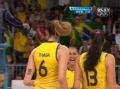 奥运视频-巴西打出精彩短平快 泰沙网前重扣杀