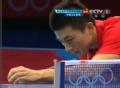 奥运视频-马龙侧身正手拉直线球 乒乓男团决赛