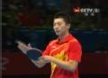 奥运视频-马龙弧圈发球赢柳承敏 乒乓男团决赛