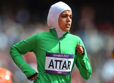 伦敦奥运会女子800米比赛中的 萨拉-阿特尔