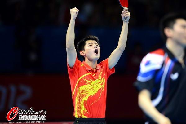 奥运图:中国王者之师横扫卫冕 怒吼庆祝