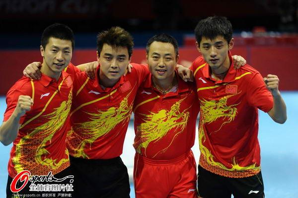 奥运图:中国王者之师横扫卫冕 团结的王者之师