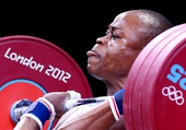 """奥运图:""""舌尖""""上的奥运 尼日利亚选手的舌尖"""