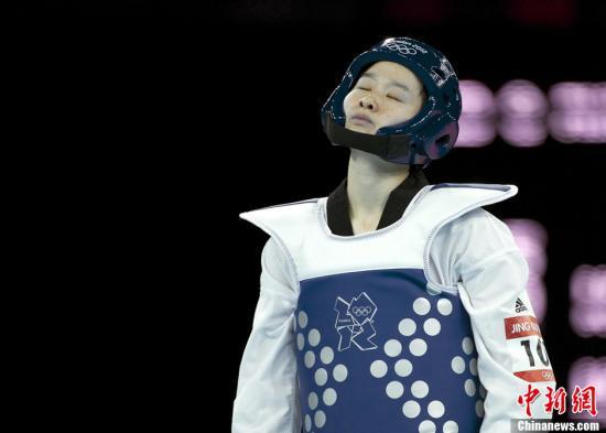 当地时间8月8日,2012年伦敦奥运会:女子跆拳道49公斤级预赛,吴静钰10:2击败对手轻松晋级。Osports全体育图片社