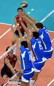 奥运图:意大利男排击败美国 三人拦网