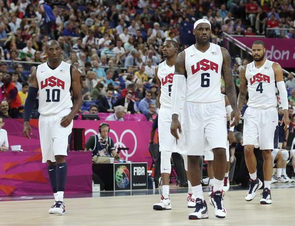 奥运图:美国男篮大胜澳大利亚 先发五虎
