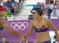 奥运视频-张希左手斜线扣杀球 女子沙排铜牌赛