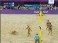 奥运视频-薛晨网前吊球击死角 女子沙排铜牌赛