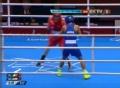 奥运视频-巴恩斯凶悍前肘拳击败对手 23-18晋级