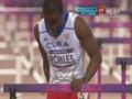 奥运视频-罗伯斯受伤退赛 推栏架发泄呆坐场地