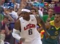 奥运视频-詹姆斯加速突破 男篮美国VS澳大利亚