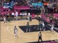 奥运视频-詹姆斯摘板暴起 强悍空中停顿造2+1