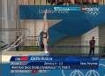 奥运视频-陈若琳倒立起跳完美入水 10米台半决赛