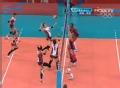 奥运视频-韩国队网前二次快攻 女排美国VS韩国