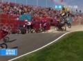 奥运视频-双人同时摔倒动作同步 小轮车1/4决赛