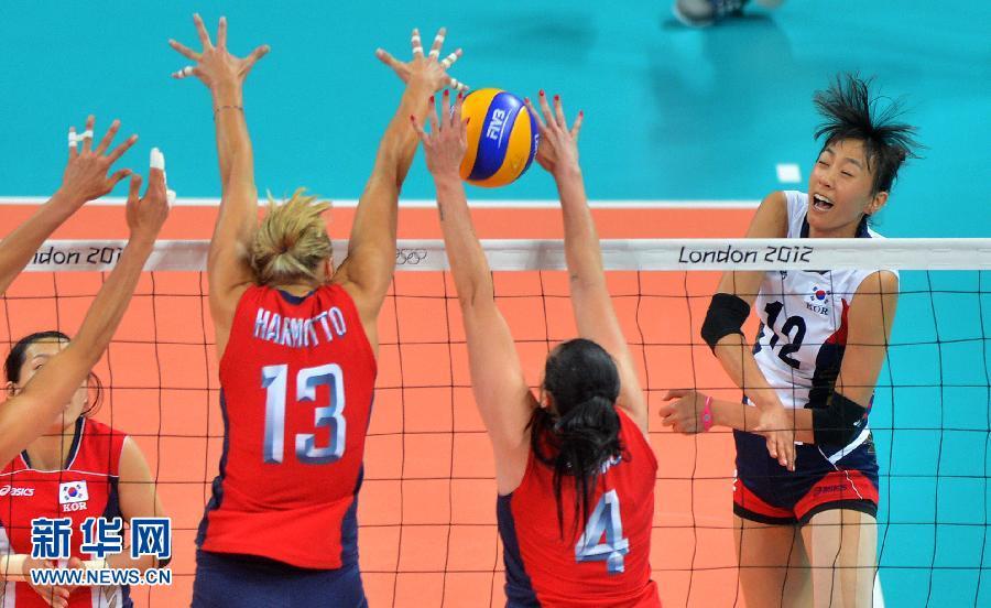 排球女子半决赛:美国胜韩国组图
