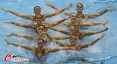 奥运图:花游集体中国列第二 笑容灿烂