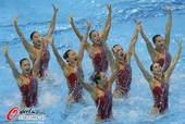 奥运图:花游集体中国列第二 中国队