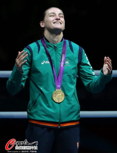 奥运 爱尔兰/奥运图:爱尔兰女拳击手夺冠激动不已