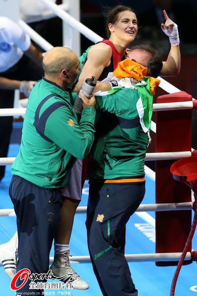 我是 爱尔兰/奥运图:爱尔兰女拳击手夺冠我是第一