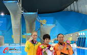 奥运图:陈若琳卫冕露甜美笑容 卫冕成功