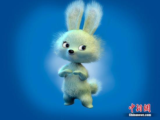 资料图:索契冬奥会吉祥物之一兔子。