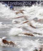 奥运图:突尼斯游泳马拉松夺冠 竞争激烈