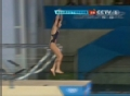 奥运视频-胡亚丹向前翻腾失误 跳水10米台决赛