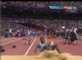 奥运视频-三级跳运动员膝盖脱臼 骨头错位明显