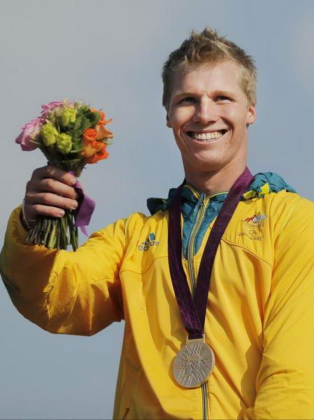奥运图:拉脱维亚选手小轮车摘金 澳大利亚选手