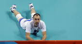 奥运图:男排半决赛巴西横扫意大利 失望