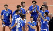 奥运图:男排半决赛巴西横扫意大利 意大利队