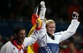 奥运图:女子67公斤以下级铜牌争夺 德国选手胜