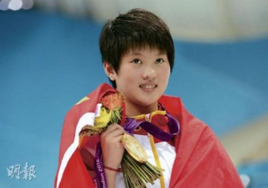 """小猪自言不敢相信陈若琳会把她的""""冠军花""""抛赠给他。"""