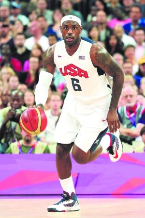 詹姆斯在奥运会上续写传奇