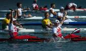 奥运图:男双皮艇俄罗斯摘金 获胜后的喜悦