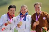 奥运图:女子越野赛法国夺冠 前三合影