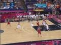 奥运视频-小加索尔传球被断 考恩反击快下暴扣