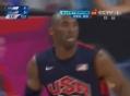 奥运视频-科比底线突破 空中巧闪封盖双手背扣
