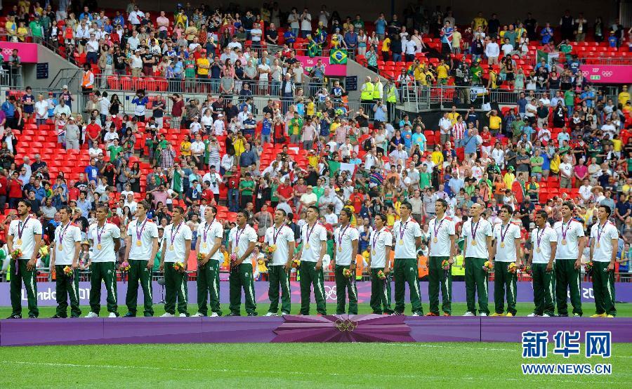 当日,在2012年伦敦奥运会男子足球决赛中,墨西哥队2比1战胜巴西队