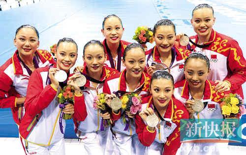 创中国花游奥运最佳成绩,刘鸥罗茜陈晓君三名广东选手立下汗马功劳