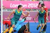 奥运图:澳大利亚男曲队获铜牌 进球兴奋